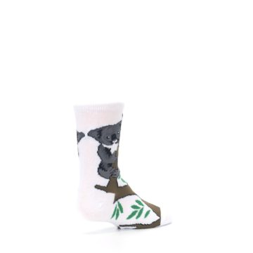 Image of White Gray Koala Bear Kid's Dress Socks (side-1-back-22)