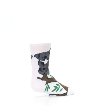 Image of White Gray Koala Bear Kid's Dress Socks (side-1-23)