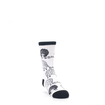 Image of White Black Lots of Sheep Kid's Dress Socks (side-1-front-02)