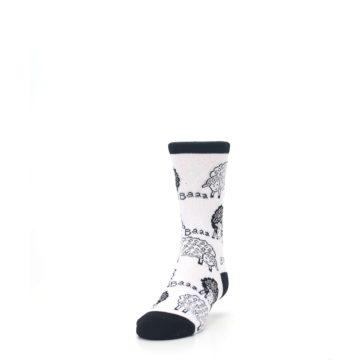 Image of White Black Lots of Sheep Kid's Dress Socks (side-2-front-06)