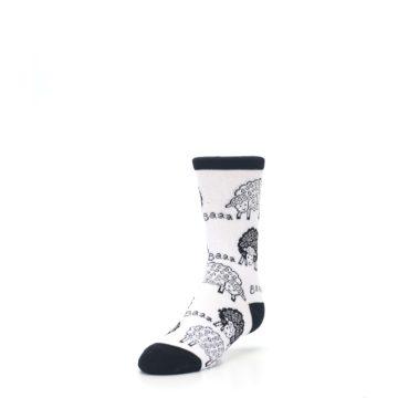 Image of White Black Lots of Sheep Kid's Dress Socks (side-2-front-07)