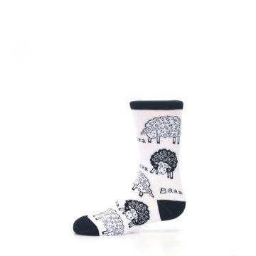 Image of White Black Lots of Sheep Kid's Dress Socks (side-2-11)
