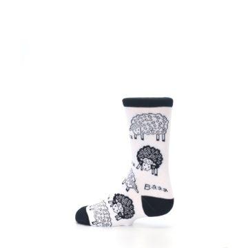 Image of White Black Lots of Sheep Kid's Dress Socks (side-2-13)