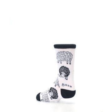 Image of White Black Lots of Sheep Kid's Dress Socks (side-2-back-14)
