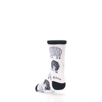 Image of White Black Lots of Sheep Kid's Dress Socks (side-2-back-15)