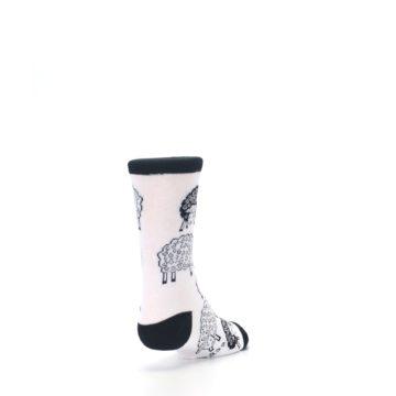 Image of White Black Lots of Sheep Kid's Dress Socks (side-1-back-20)