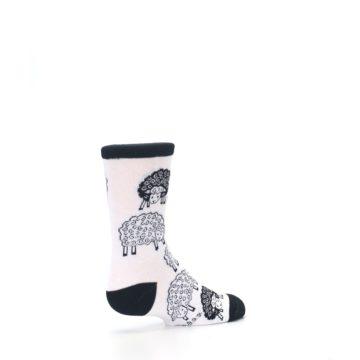 Image of White Black Lots of Sheep Kid's Dress Socks (side-1-back-22)