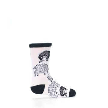 Image of White Black Lots of Sheep Kid's Dress Socks (side-1-23)