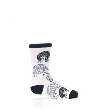 Image of White Black Lots of Sheep Kid's Dress Socks (side-1-24)