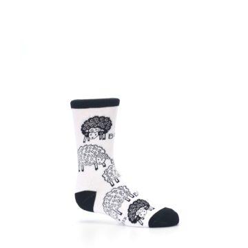 Image of White Black Lots of Sheep Kid's Dress Socks (side-1-25)