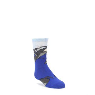 Blue-Gray-Playful-Dolphins-Kids-Dress-Socks-Wild-Habitat