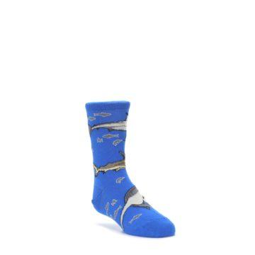 Blue-Gray-Shark-Mix-Kids-Dress-Socks-Wild-Habitat