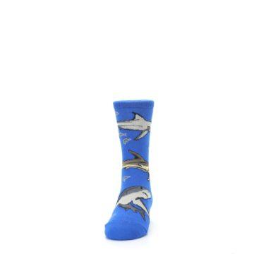Image of Blue Gray Shark Mix Kid's Dress Socks (front-05)