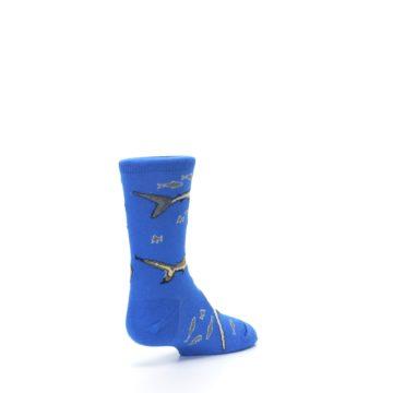 Image of Blue Gray Shark Mix Kid's Dress Socks (side-1-back-21)