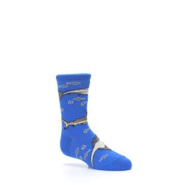 Image of Blue Gray Shark Mix Kid's Dress Socks (side-1-26)