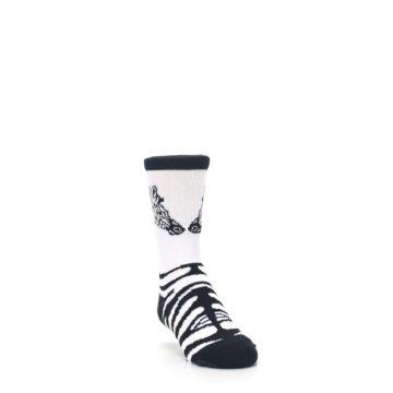 Image of White Black Zebra Kid's Dress Socks (side-1-front-02)