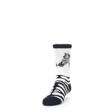 Image of White Black Zebra Kid's Dress Socks (side-2-front-06)