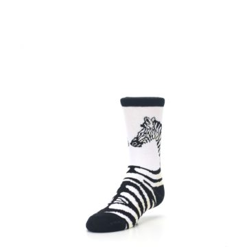Image of White Black Zebra Kid's Dress Socks (side-2-front-07)