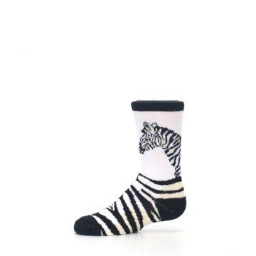 Image of White Black Zebra Kid's Dress Socks (side-2-11)