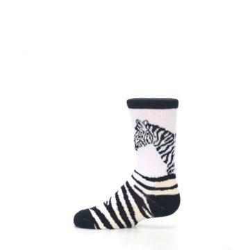 Image of White Black Zebra Kid's Dress Socks (side-2-12)