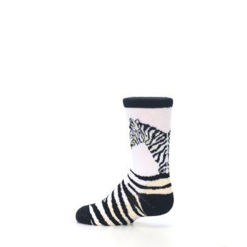 Image of White Black Zebra Kid's Dress Socks (side-2-13)