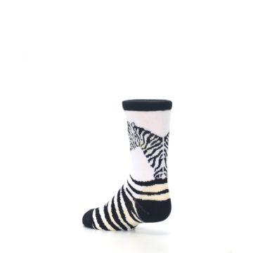 Image of White Black Zebra Kid's Dress Socks (side-2-back-14)