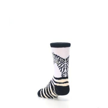 Image of White Black Zebra Kid's Dress Socks (side-2-back-15)