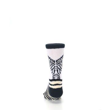 Image of White Black Zebra Kid's Dress Socks (back-17)