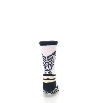 Image of White Black Zebra Kid's Dress Socks (back-18)