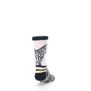 Image of White Black Zebra Kid's Dress Socks (back-19)