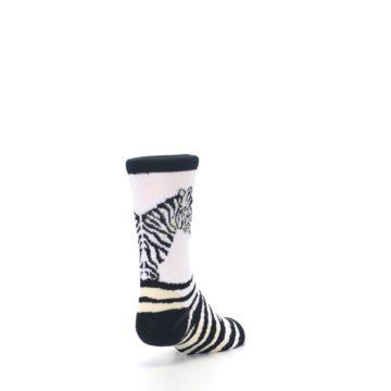 Image of White Black Zebra Kid's Dress Socks (side-1-back-20)