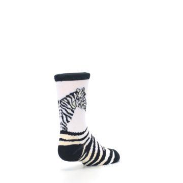 Image of White Black Zebra Kid's Dress Socks (side-1-back-21)