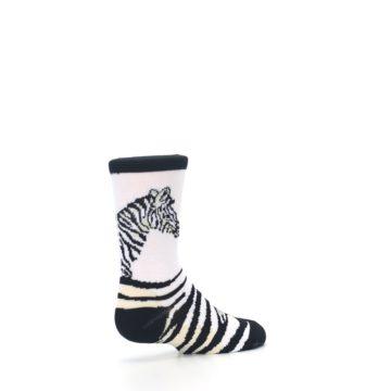 Image of White Black Zebra Kid's Dress Socks (side-1-back-22)