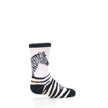 Image of White Black Zebra Kid's Dress Socks (side-1-23)