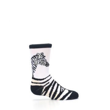 Image of White Black Zebra Kid's Dress Socks (side-1-24)