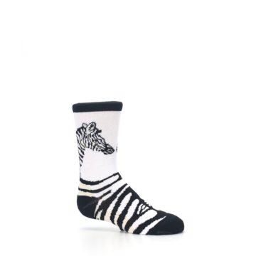 Image of White Black Zebra Kid's Dress Socks (side-1-25)