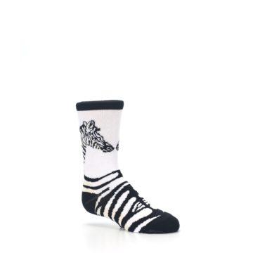Image of White Black Zebra Kid's Dress Socks (side-1-26)