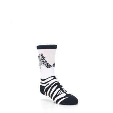 Image of White Black Zebra Kid's Dress Socks (side-1-27)