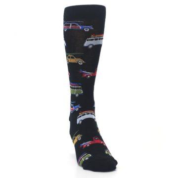 Image of Black Surfer Cars Men's Dress Socks (side-1-front-03)
