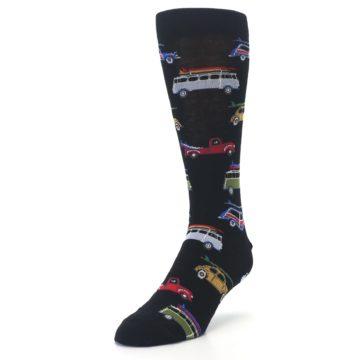 Image of Black Surfer Cars Men's Dress Socks (side-2-front-07)
