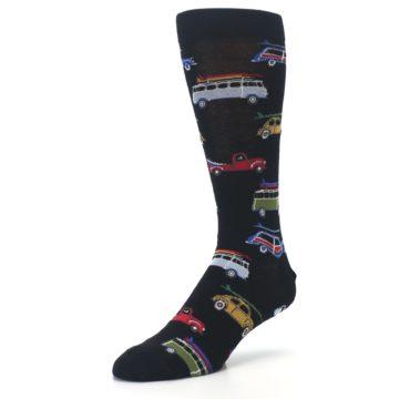 Image of Black Surfer Cars Men's Dress Socks (side-2-front-08)