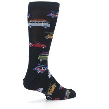 Image of Black Surfer Cars Men's Dress Socks (side-1-back-22)