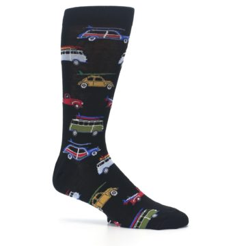 Image of Black Surfer Cars Men's Dress Socks (side-1-25)