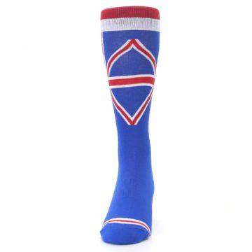 Image of Blue Red British Flag Men's Dress Socks (front-05)