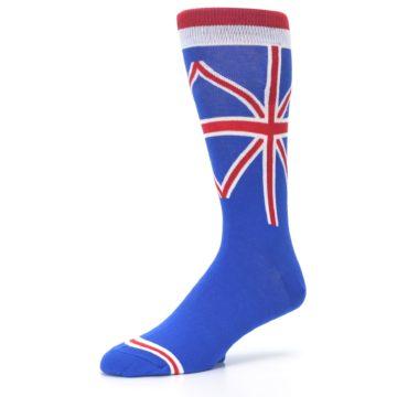 Image of Blue Red British Flag Men's Dress Socks (side-2-09)