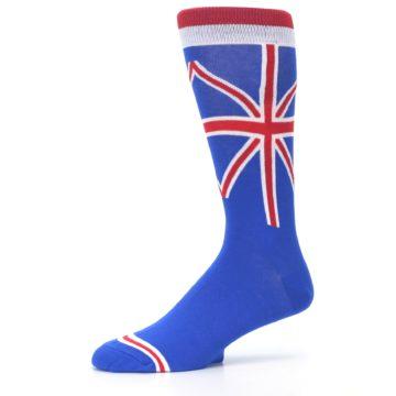 Image of Blue Red British Flag Men's Dress Socks (side-2-10)