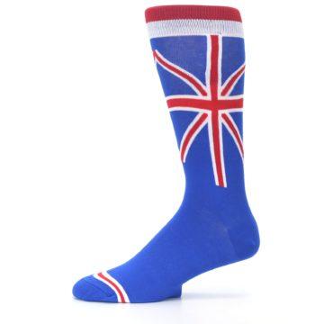 Image of Blue Red British Flag Men's Dress Socks (side-2-11)