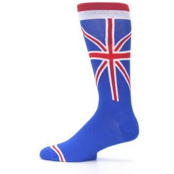 Image of Blue Red British Flag Men's Dress Socks (side-2-12)