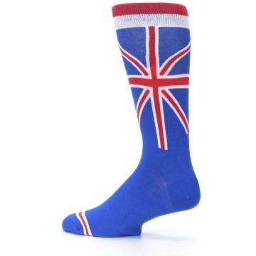 Image of Blue Red British Flag Men's Dress Socks (side-2-13)