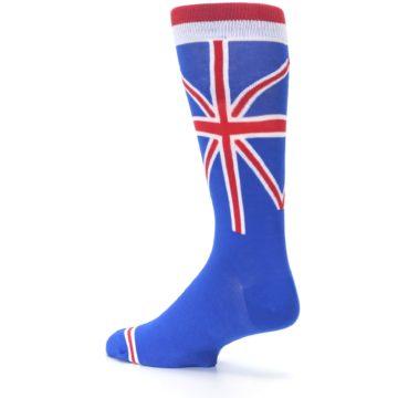 Image of Blue Red British Flag Men's Dress Socks (side-2-back-14)